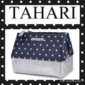 Tahari pyramid makeup triple case